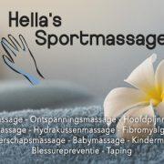 Hella's Sportmassage omslagfoto Facebook maart 2017